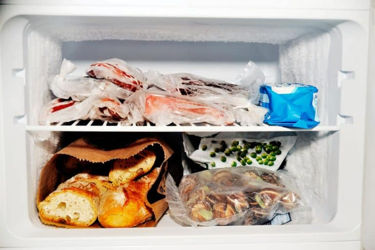 freezer full of food