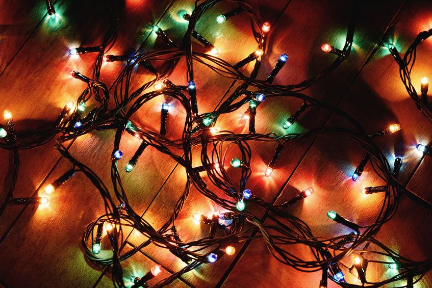 luzes de natal decoração