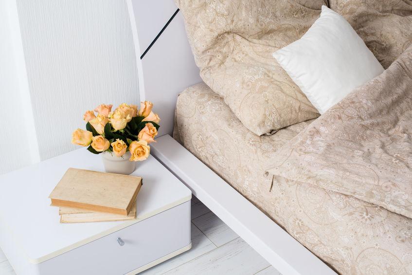 Bright white bedroom