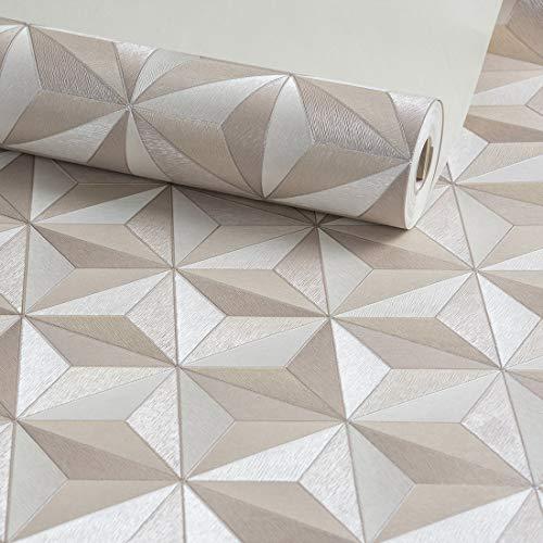 Papel De Parede Importado Vinílico Lavável Alto Relevo Texturizado (8406-3D Marrom)
